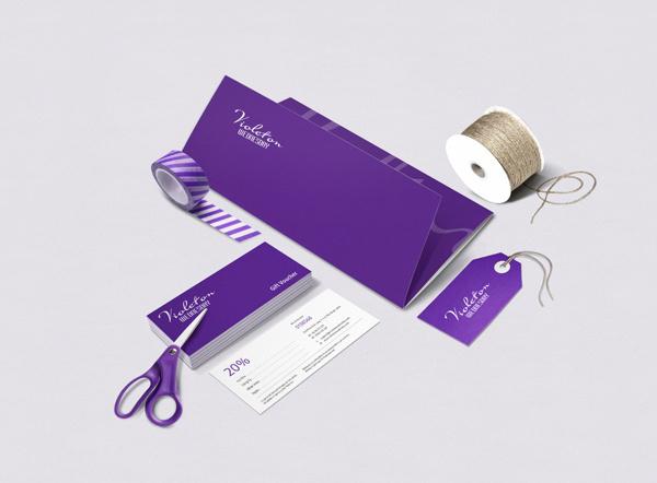 Violet on Wednesday #vietnam #agency #hieu #thiet #branding #ke #van #shop #wednesday #flowers #cty #violet #on #thuong #brand #identity #tu #logo #bratus