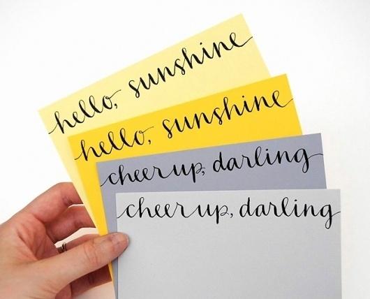 plenty of colour #handwriting #type #yellow