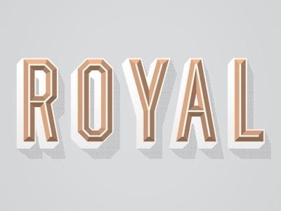 Dribbble - Royal by Alex Roka #alex #type #roka #treatment