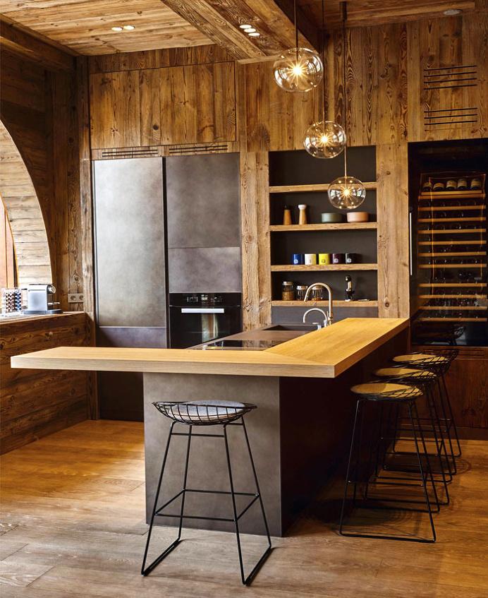 Ski Resort Villa in the French Alps - #decor, #interior, #home