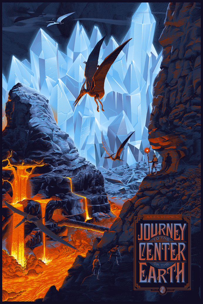 durieux journey to the center of the earth #durieux #journey #earth #illustration #laurent