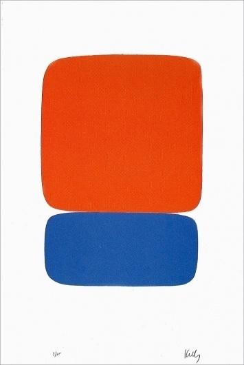 Red-Orange Over Blue - Ellsworth Kelly - Prints - Original Prints #kelly #ellsworth #art #paintings