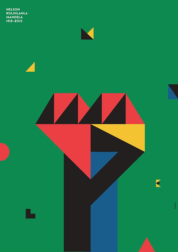 Garbett Design, Sydney (+612 9212 3474) #design #mandela #graphic #illustration #poster #typography