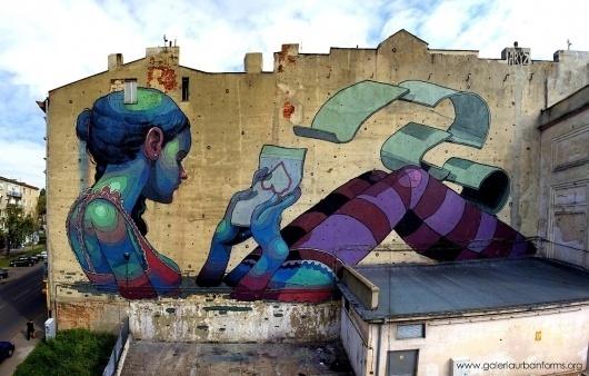 ARYZ.jpg 1114×712 pixels #urban #gallery #forms #aryz #poland #murals