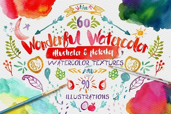 Wonderful Watercolor Design Pack - Textures