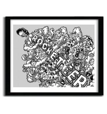 Rocketeer by Lei Melendres #print #art
