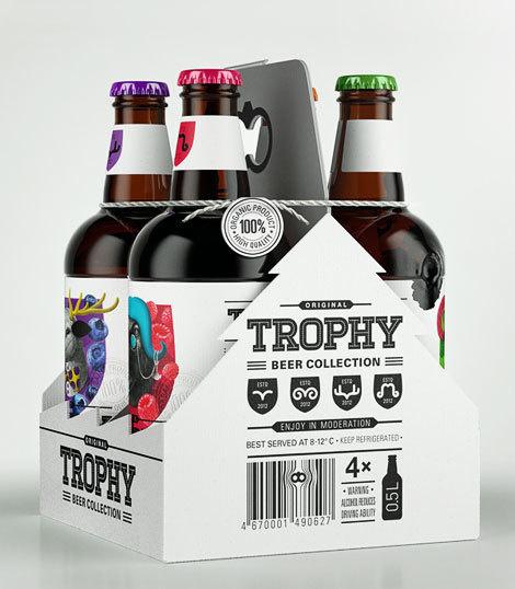 Trophy Beer Carrier #packaging #beer #label #bottle