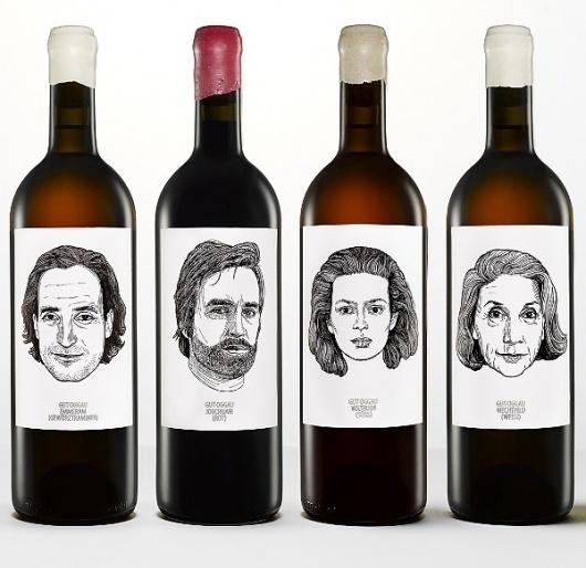 1_gutoggau-wine-portraits2.jpg (600×583) #product #faces #wine