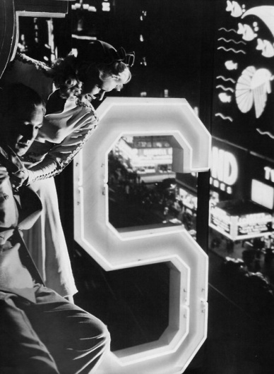 Jean Phillips & Macdonald Carey in Dr. Broadway...   Old Hollywood #1940 #photo #noir #film #signage #typography