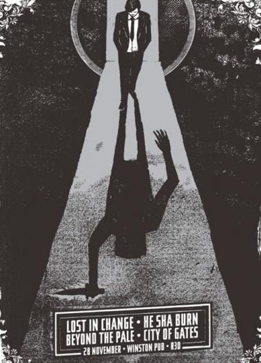 Design Work Life » Dustin Holmes: Gig Posters #silkscreen #white #branding #print #black #screen #poster #and #music