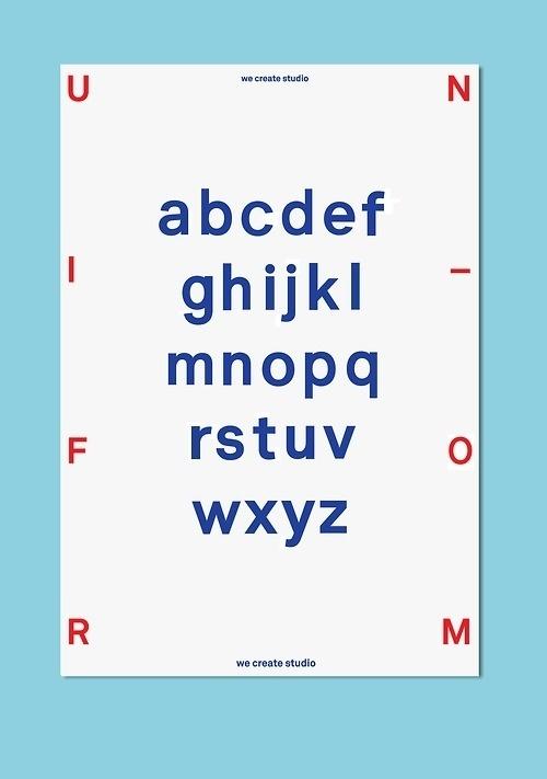 we create studio - Graphic design #create #design #graphic #we #studio #type #uniform #typography