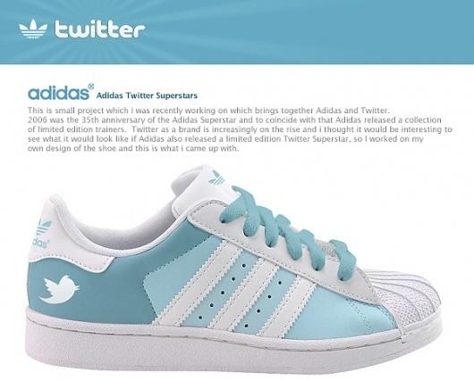 Adidas Twitter Superstars on the Behance Network #twitter #adidas