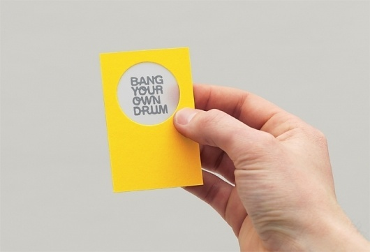 Bang Your Own Drum #business #branding #card #identity #stationery