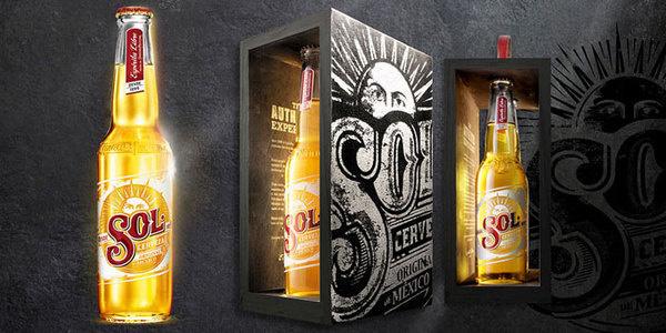 SOLÂ The Dieline #packaging #beer #overdone