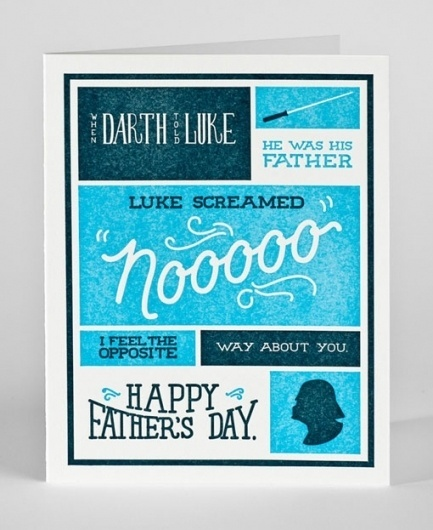 design work life » cataloging inspiration daily #card #letterpress #fathers #grid #day #typography