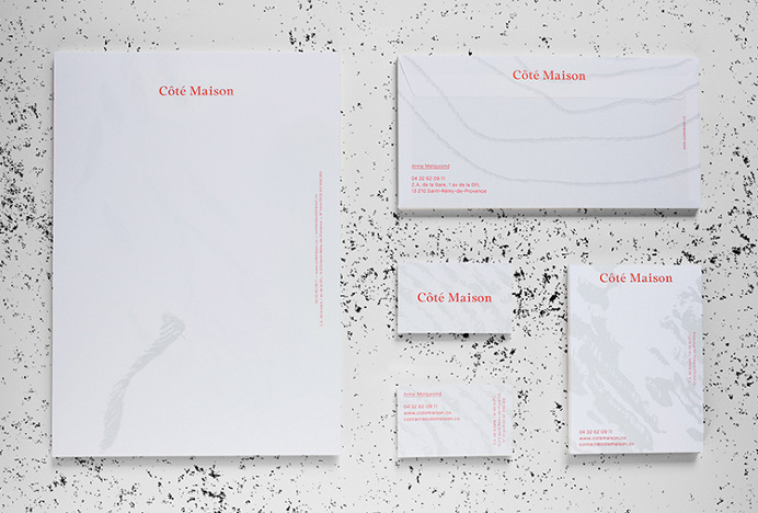 Côté Maison by Studio 24/24 #business card #branding #stationery