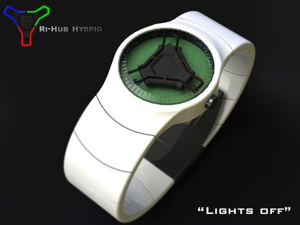 2012 Modern Tri Hub Hybrid Watch Concept Designs