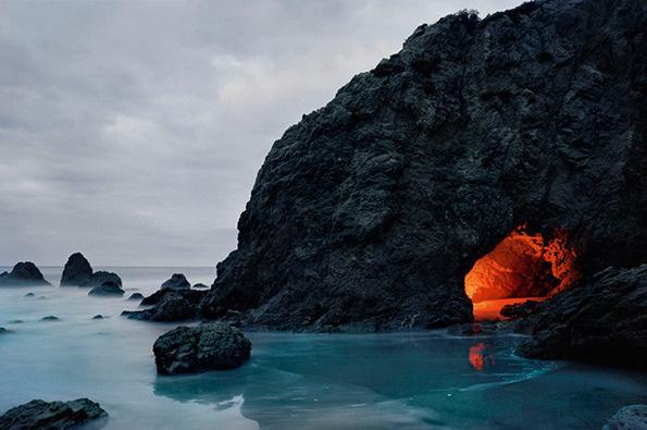 Kcooley_matador_cave_1000top #flare #secret #cave #photography #sea #glow #coast #cove