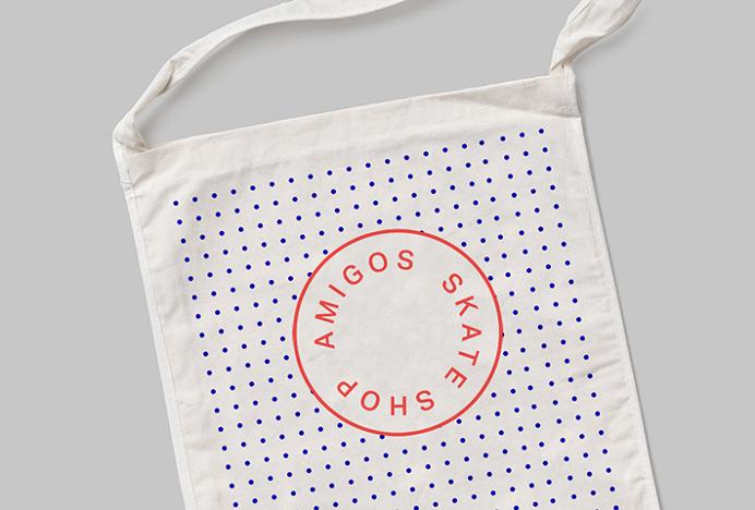 Amigos Skate Shop by Jorge León #graphic design #print #bag