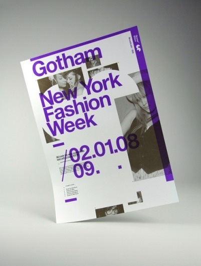 Viewing Gotham - New York Fashion Week - 02-01-08 in the Print category :: Ember #design #graphic #poster #typography