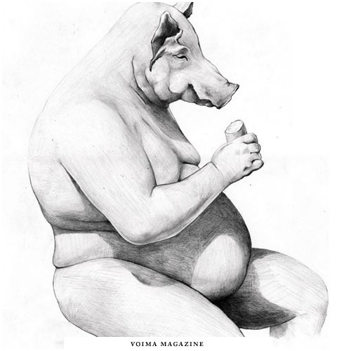 Emil Bertell Illustration Portfolio #chubby #bertell #pig #emil #illustration #pencil