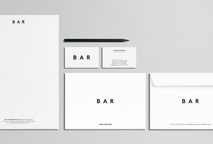 Beck & Robertson (BAR) by Thomas Williams & Co. #stationary #minimal #design #print