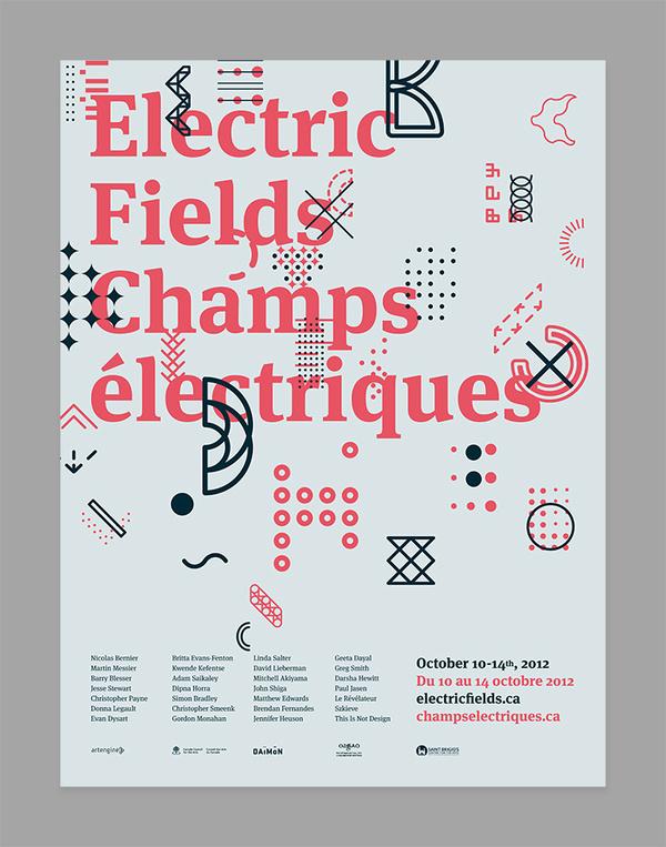 Electric Fields 2012 Simon Guibord #simon #layout #poster #guibord