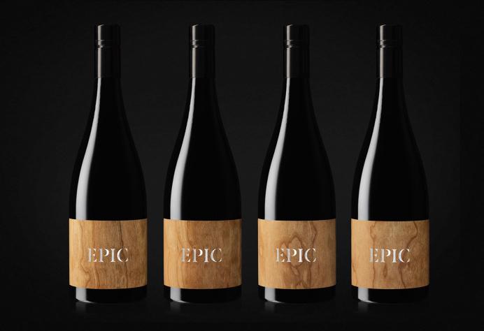 epic wine bottle design wooden label design inspiration minimal luxury print on wood by mindsparklemag www.mindsparklemag.com