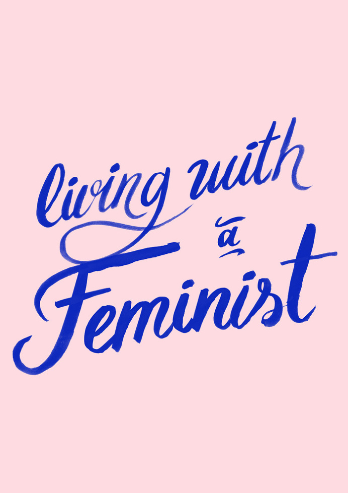 Living with a feminist Art Print by Koning | Society6