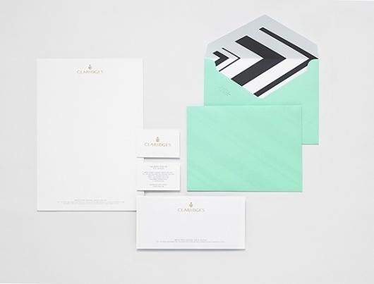 Creative Review - Claridge's rebrand #business #card #brand #envelope #stationery #letterhead #claridges