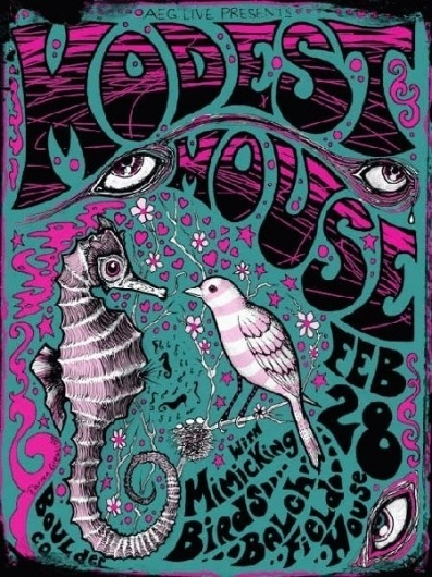 Google Image Result for http://goodthoughts4all.com/press/wp-content/uploads/2009/12/ModestMouse.jpg #seahorse #mouse #print #modest #bird #poster