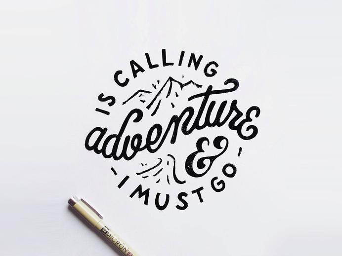 Adventure by Mark van Leeuwen #draw #handlettering #typography