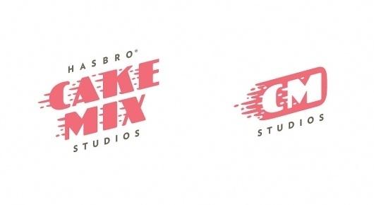 Cake Mix Studios Logotype and Iconography | Hasbro | Helms Workshop #type #identity #helmsworkshop #logo