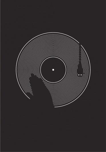 MINIMALSONIC #music #turntable #poster #blackwhite