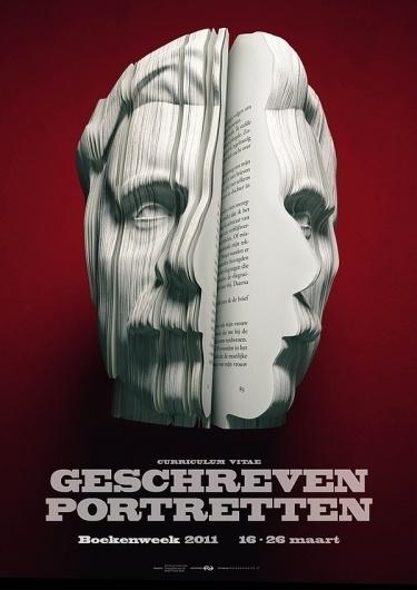 Sculptural Book Ads for Dutch Book Week | Colossal #sculpture #books #advertising