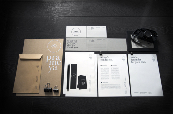 Prameya on the Behance Network #card #letterhead #identity #business
