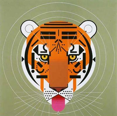 Tiger - Charley Harper #charley #illustration #tiger #harper
