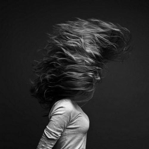 girl_with_whipped_hair_photography #wild #girl #hair #studio #art #blackandwhite