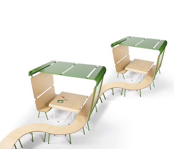 Functional Childrens Modular Entertainment Corner for Public Space Furniture, Ottawa Collection by Emiliana Design