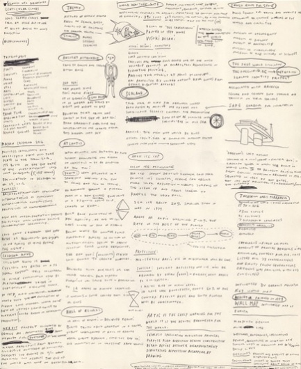 Brian Rea #lists #writing #rea #brian #drawing