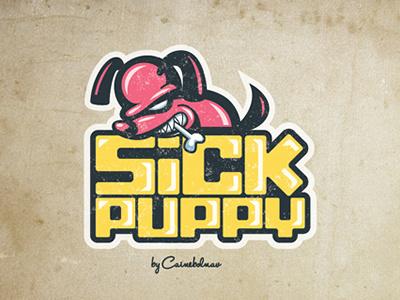 Sickpuppy #branding #texture #illustration #puppy #sick #logo