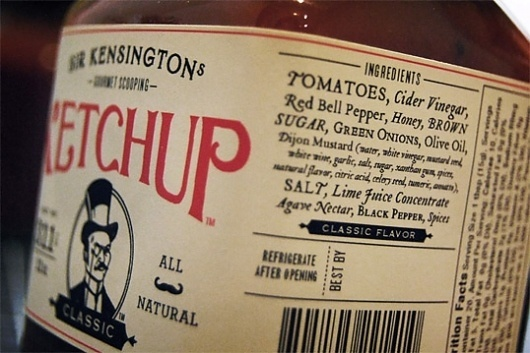 Sir Kensington's Gourmet Scooping Ketchup : Lovely Package® . Curating the very best packaging design. #alvin #ketchup #classic #diec #kensington #gourmet #sir #package