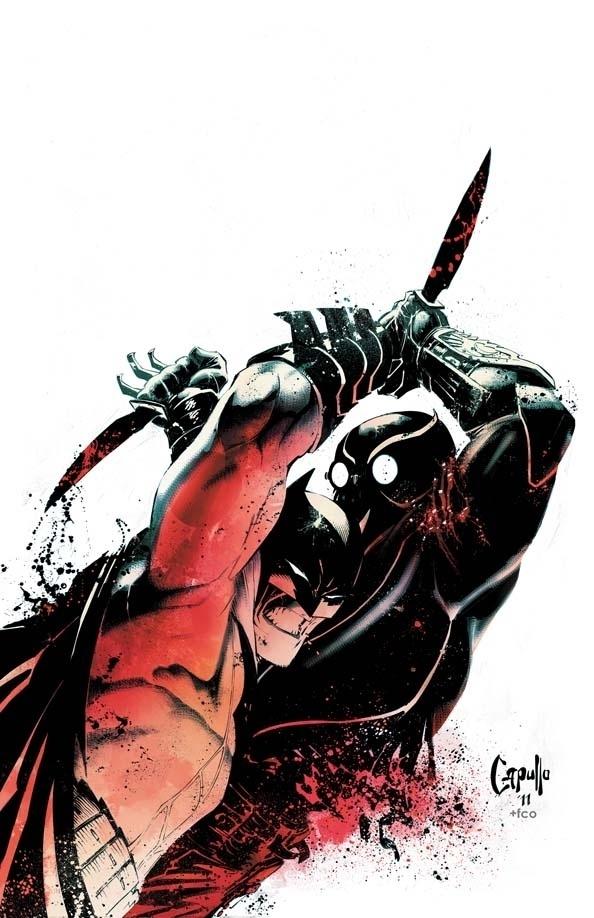 tumblr_lw4grhKcFQ1qdu2tro1_1280.jpg (594×918) #capullo #batman #illustration #fight #comics