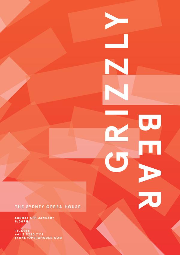 Grizzly Bear - James Kirkups portfolio #grizzly #kirkups #james #poster #bear