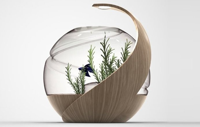 Using innovative technology, Avo is a fish tank that cleans its own water and automates heat and lighting; Owning fish has never been this s #modern #design #product #industrial #innovative