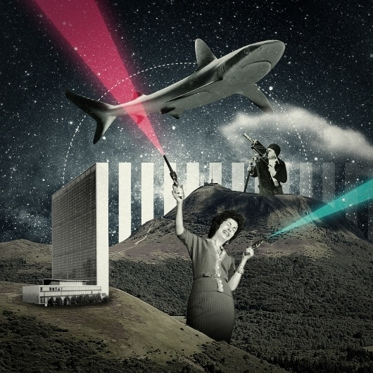 Shark & Guns #13decembre #illustration #collage #geometry