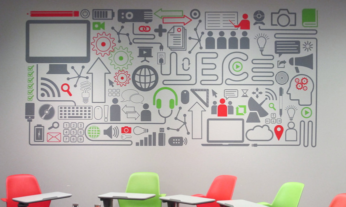 LEC Wall Graphic - Paul Tynes | Graphic Design #graphics #wall