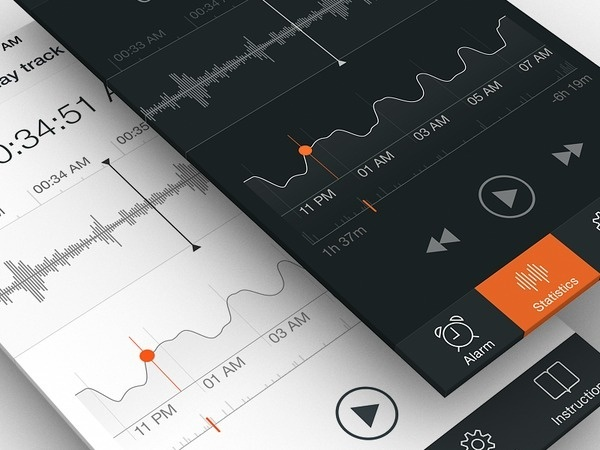 Sleep Tracker UI, Part 2 #user #design #application #interface #sleep #experience #iphone #app