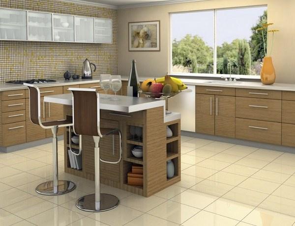 Kitchen with still life art