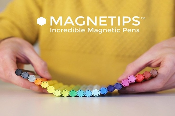 The design company known as Typica has created their first product; a set of #magnetic #pens they call Magnetips. A re-imagining of the dull